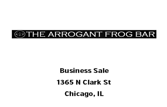 The Arrogant Frog Bar